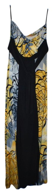 yellow and black, multi color Maxi Dress by Voila Maxi Strapless Summer