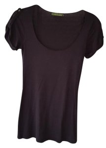 Velvet by Graham & Spencer T-shirt Scoop Neck T Shirt black