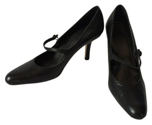 Daisy Fuentes Leather Mary Jane Black Pumps