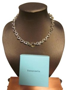 Tiffany & Co. Tiffany Heart Link Necklace w/18k Gold Heart