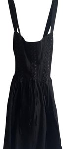 Free People short dress Black Braided Vintage on Tradesy