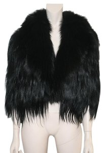 Lanvin Fur Fox Silk Jacket Fur Coat