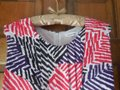 Calvin Klein short dress White w/Red Black Purple Fully Lined Stripes Rounded Neckline Zipper Close Pockets on Tradesy Image 1