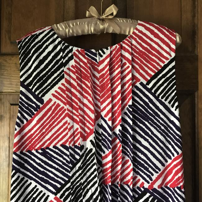 Calvin Klein short dress White w/Red Black Purple Fully Lined Stripes Rounded Neckline Zipper Close Pockets on Tradesy Image 10