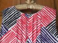 Calvin Klein short dress White w/Red Black Purple Fully Lined Stripes Rounded Neckline Zipper Close Pockets on Tradesy Image 4