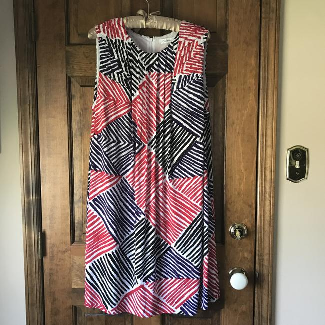 Calvin Klein short dress White w/Red Black Purple Fully Lined Stripes Rounded Neckline Zipper Close Pockets on Tradesy Image 6