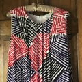 Calvin Klein short dress White w/Red Black Purple Fully Lined Stripes Rounded Neckline Zipper Close Pockets on Tradesy Image 7