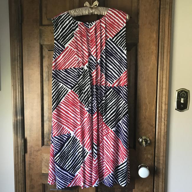 Calvin Klein short dress White w/Red Black Purple Fully Lined Stripes Rounded Neckline Zipper Close Pockets on Tradesy Image 9