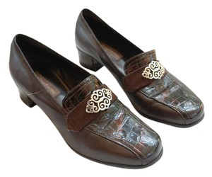 Brighton Leather Brown Mules