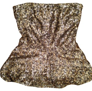 Zara Tube Peplum Sparkles Top Multi - Sequin