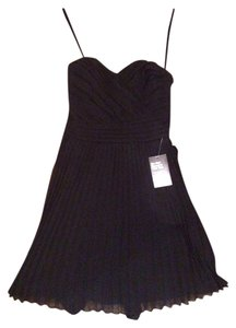 Express Cocktail Strapless Sweetheart Pleated Dress