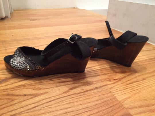 Other black wooden sequence Sandals