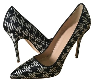 J.Crew Houndstooth Pointed Toe Black + White Pumps
