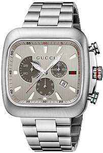 Gucci NEW Gucci Watch, Men's Swiss Chronograph Coupe Stainless Steel Bracelet 44mm YA131201