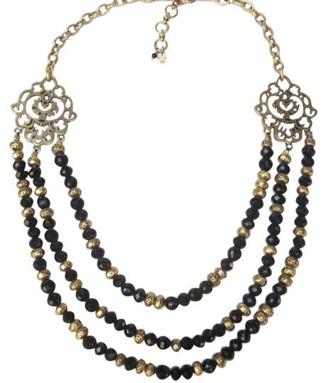 Preload https://img-static.tradesy.com/item/17143897/lucky-brand-black-beaded-multi-row-gold-tone-matching-earrings-set-necklace-0-1-540-540.jpg