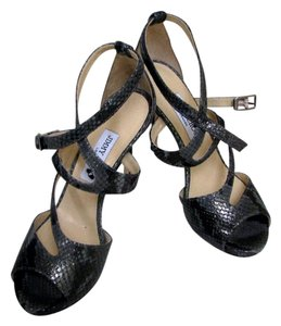 Jimmy Choo Snake Metallic Summer Party Gray, Metallic Sandals
