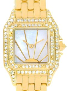 Cartier Cartier Panthere Ladies 18k Yellow Gold Diamond Sunrise Dial Watch