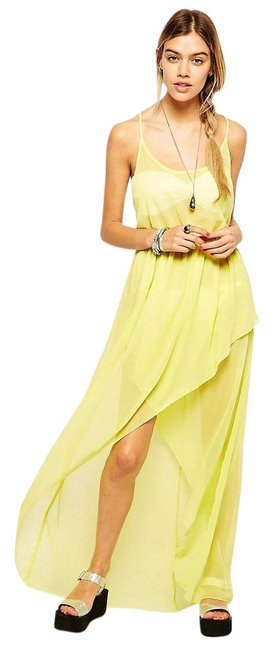 Preload https://img-static.tradesy.com/item/17144029/asos-yellow-pleat-back-high-low-casual-maxi-dress-size-8-m-0-2-650-650.jpg
