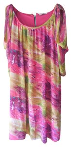 Jay Godfrey short dress Pink Multi Plus-size Made In Usa Fully Lined Comfortable on Tradesy