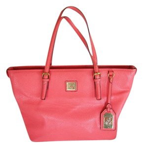 Anne Klein Lion Logo Tote in Coral