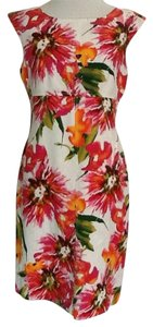 Isabella DeMarco Floral Flowers Linen Chic Classic Dress