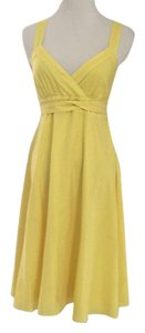 Anthropologie short dress Sunny Yellow on Tradesy