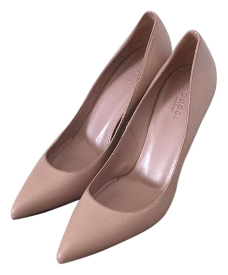 95c52d47e94 Gucci Light Pink Womens Malaga Kid Leather Heels 39.5 9.5new Pumps ...