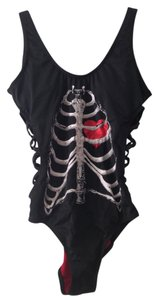 Blackheart Skeleton Ribs Monokini Swimsuit