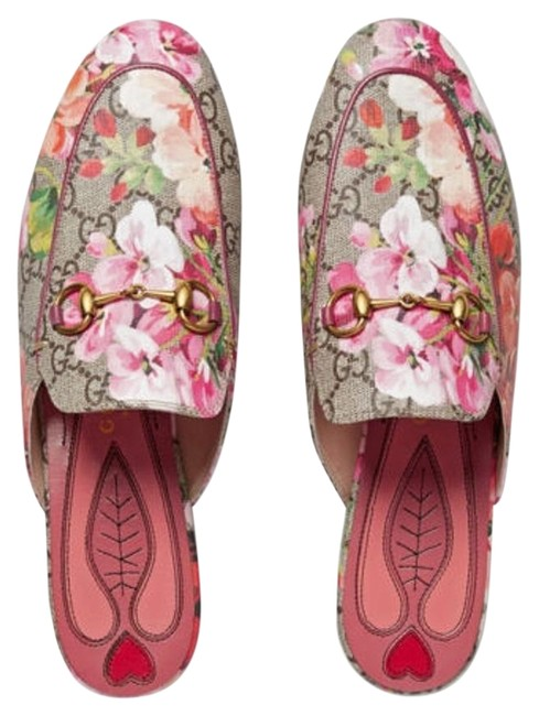 Item - Pink Multicolor Last Princetown Gg Blooms Slipper Loafers 38.5 Flats Size US 8.5 Narrow (Aa, N)