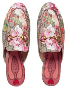 Gucci Last Princeton Loafers Pink Multicolor Flats
