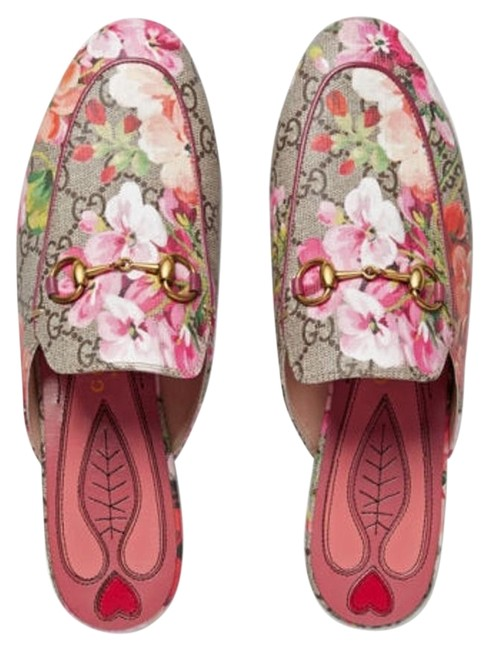 Item - Pink Multicolor Last Princetown Gg Blooms Slipper Loafers 40 Flats Size US 10 Narrow (Aa, N)