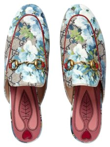 Gucci Last Princeton Loafers Blue Multicolor Flats