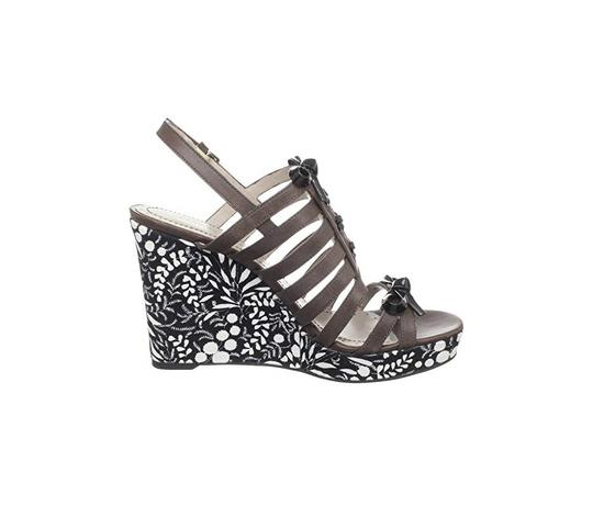 Marc by Marc Jacobs Summer Party Fun Brown, Floral Wedges Image 4