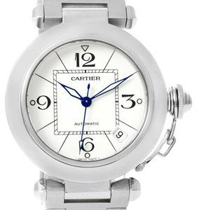 Cartier Cartier Pasha C Medium Automatic White Dial Date Watch W31074M7