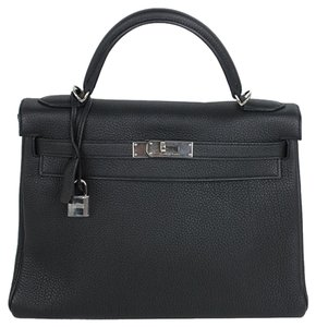 Hermès Hermes Kelly Togo Tote in Black