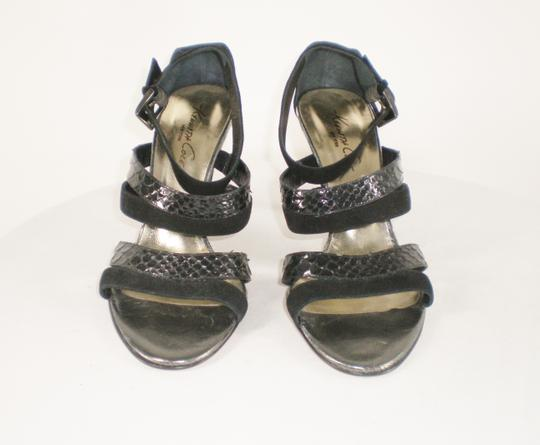 Kenneth Cole Suede Strappy Italy Black Sandals Image 1