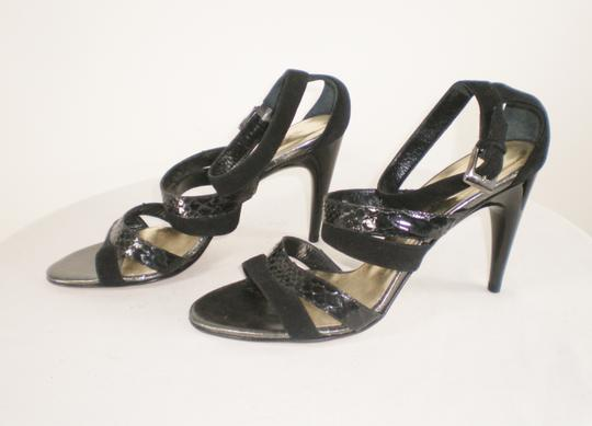 Kenneth Cole Suede Strappy Italy Black Sandals Image 2