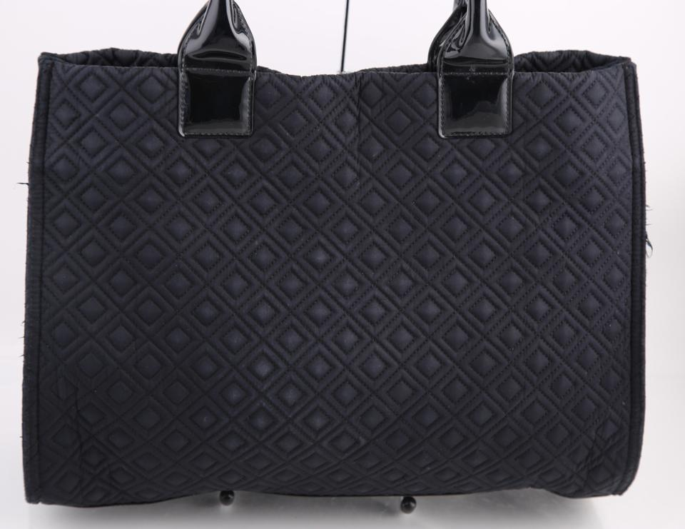 Tory Burch Black Nylon/Patent Leather T Hobo Bag - Tradesy : tory burch quilted tote - Adamdwight.com
