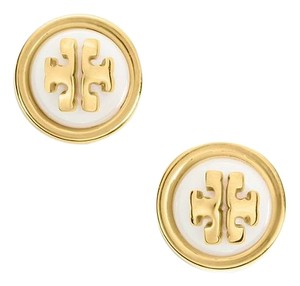 Tory Burch New Melodie Logo Stud Earring