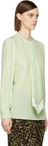 Givenchy Neck Tie Runway Unique Quirky Statement Top Green