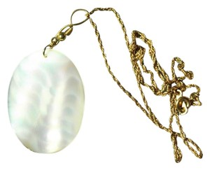 Mother of Pearl Necklace on a Gold Chain