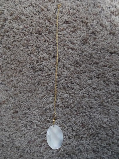 Other Mother of Pearl Necklace on a Gold Chain Image 1