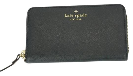 Preload https://img-static.tradesy.com/item/17146309/kate-spade-black-leather-cobble-hill-medium-lacey-continental-zip-wallet-0-1-540-540.jpg