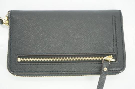 Kate Spade Black Textured Leather Cobble Hill Medium Lacey Continental Zip Wallet Image 1