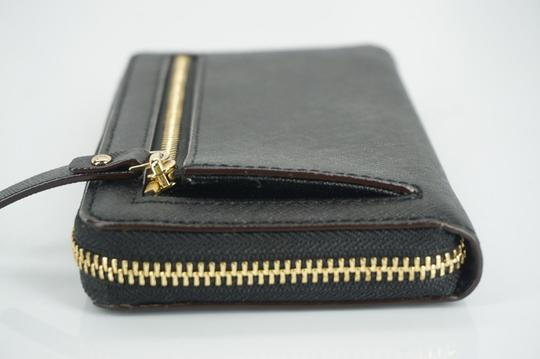Kate Spade Black Textured Leather Cobble Hill Medium Lacey Continental Zip Wallet Image 2