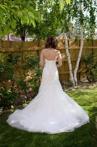 Maggie Sottero Ivory/Ivory Anniston Wedding Dress Size 4 (S)