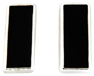 Other Vintage Enamel Rectangle Clip On Earrings