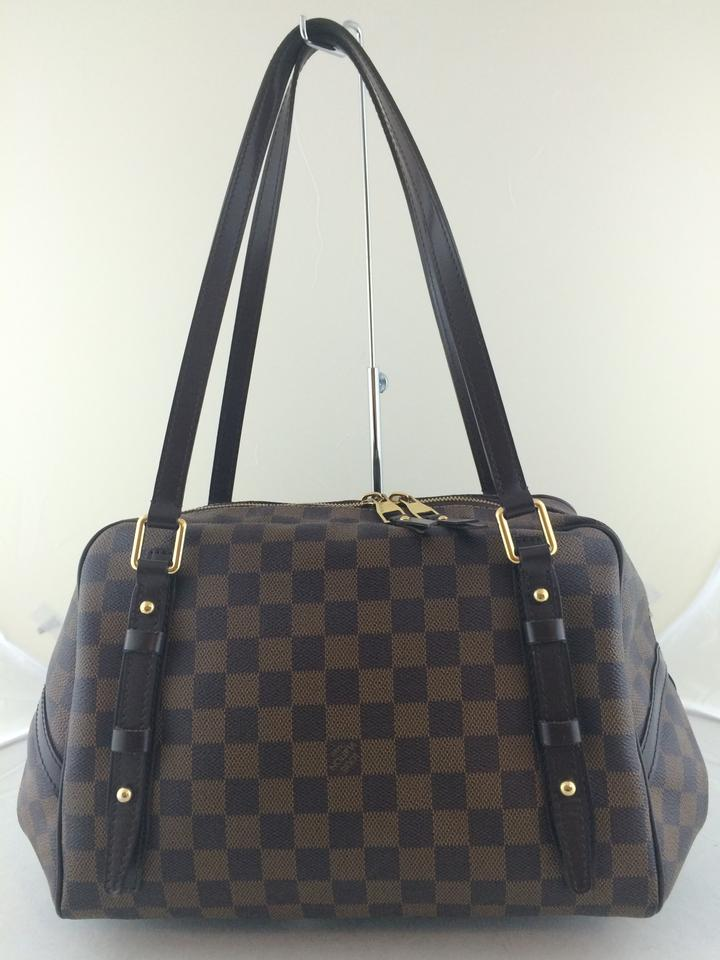 1f28d66672cc Louis Vuitton Rivington Gm Canvas Handbag Shoulder Satchel in Damier Ebene  Image 11. 123456789101112