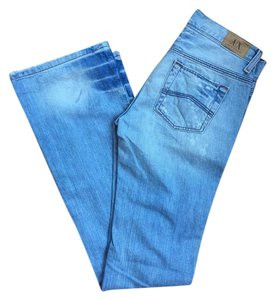 A|X Armani Exchange Distressed Ripped Straight Leg Jeans-Distressed