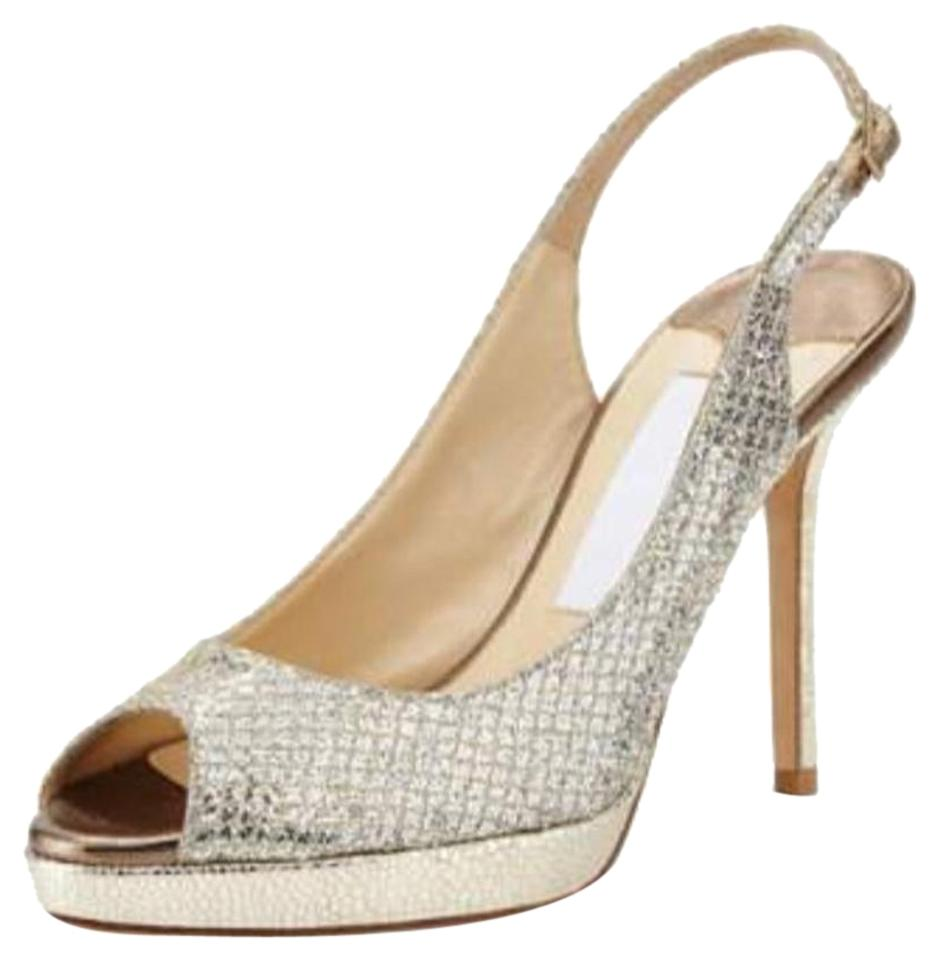 Jimmy Choo Choo Jimmy Champagne Nova Slingbacks Sandals b092d2